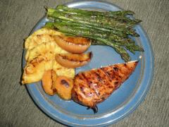 A healthy summertime meal from the grill.