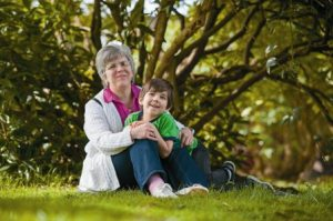 Sharon Standish and her grandson enjoy a day at the park.