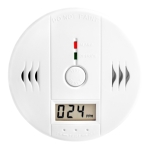 Carbon monoxide (CO) detector, isolated, clipping path