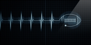 Heartbeat Monitor with football