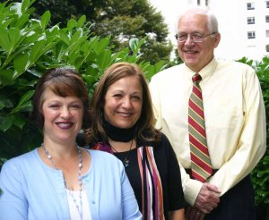 The Separation and Loss Services team (from left), Laura Jeffs, Fanny Correa, MSW, and Ted Rynearson, MD