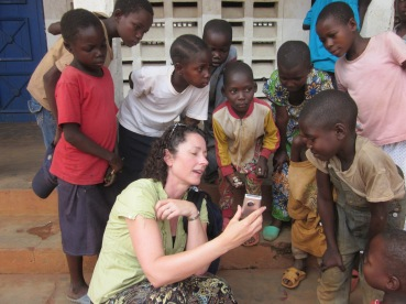 Ann spends time with the local children.