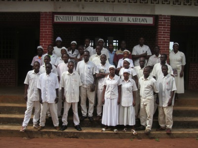 First year nursing students in Karawa, Democratic Republic of the Congo