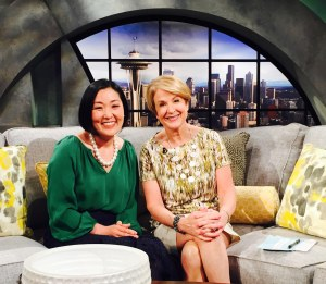 Dr. Lee with New Day Northwest host Margaret Larson.