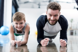 Exercising with children during self-isolation and COVID-19